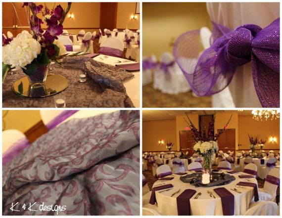 Beautiful Purple, Ivory and Silver Wedding - K & K Designs